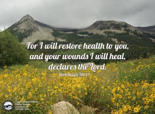 Scripture Picture i will restore health